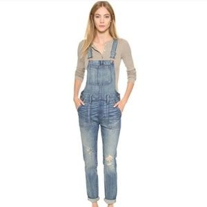Madewell Distressed Denim Skinny Overalls